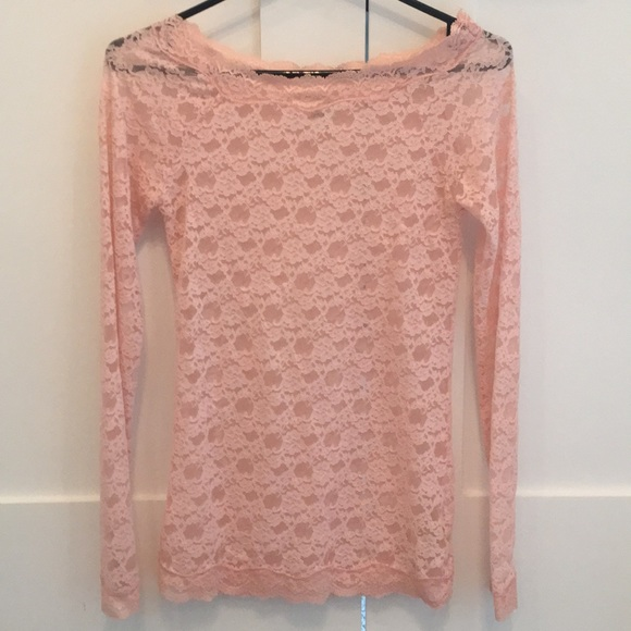 Free people scandalous lace stretch top